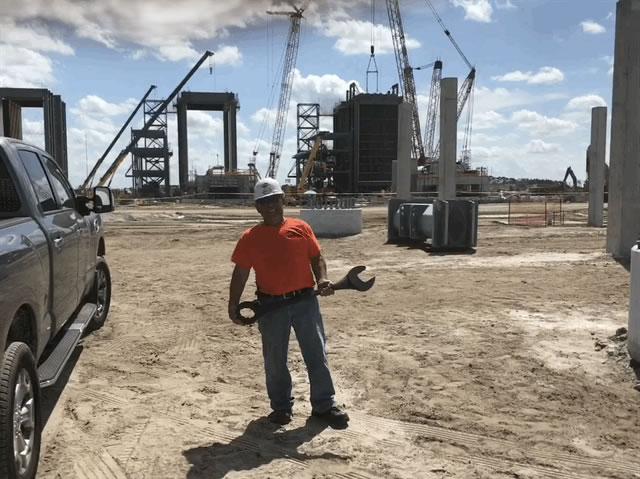 steel erection construction site